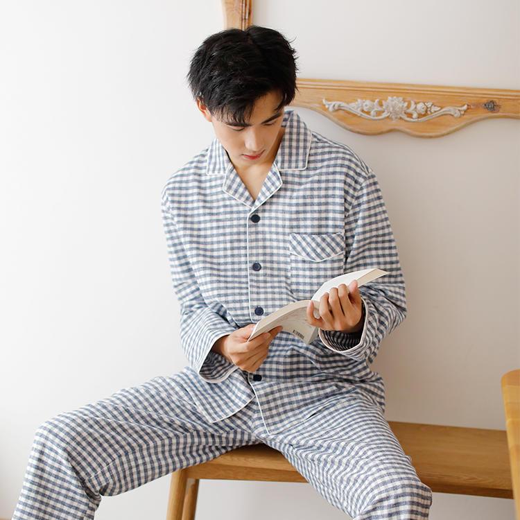 新款无印良品法兰绒家居服套装秋冬款专柜在售