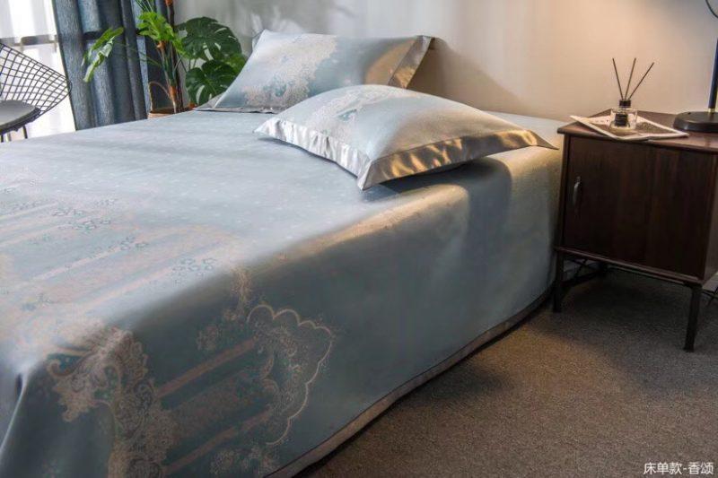 MING SU可水洗机洗养生席冰丝席空调席冰柔席三件套床单款香颂