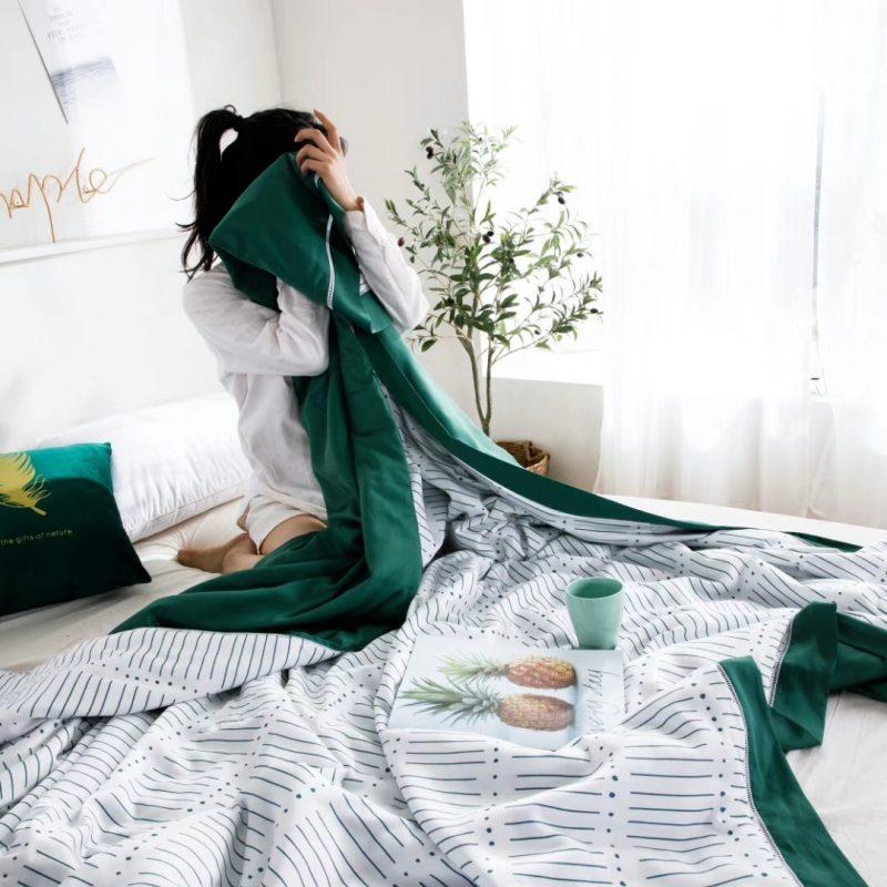 2019裸睡神器60S天丝印花款夏凉被空调被薄被古尔本