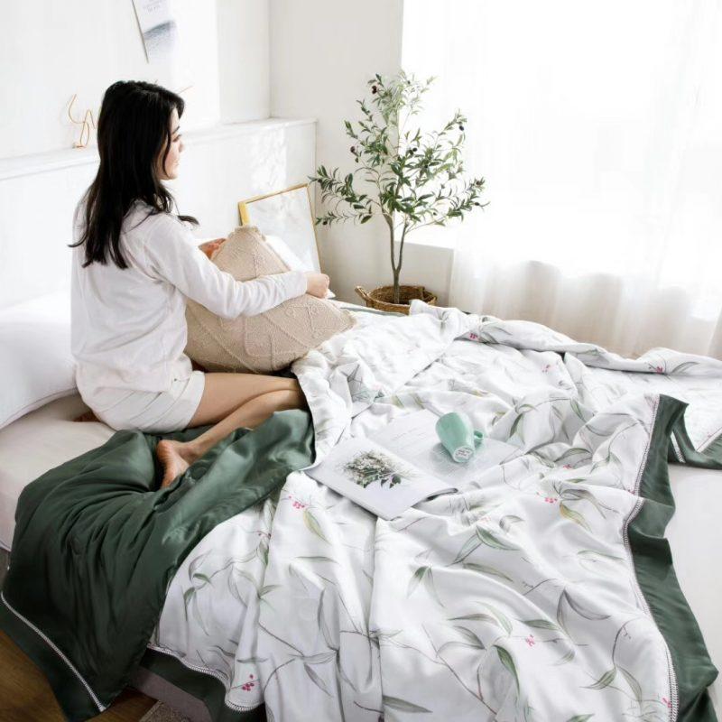2019裸睡神器60S天丝印花款夏凉被空调被薄被布罗肯