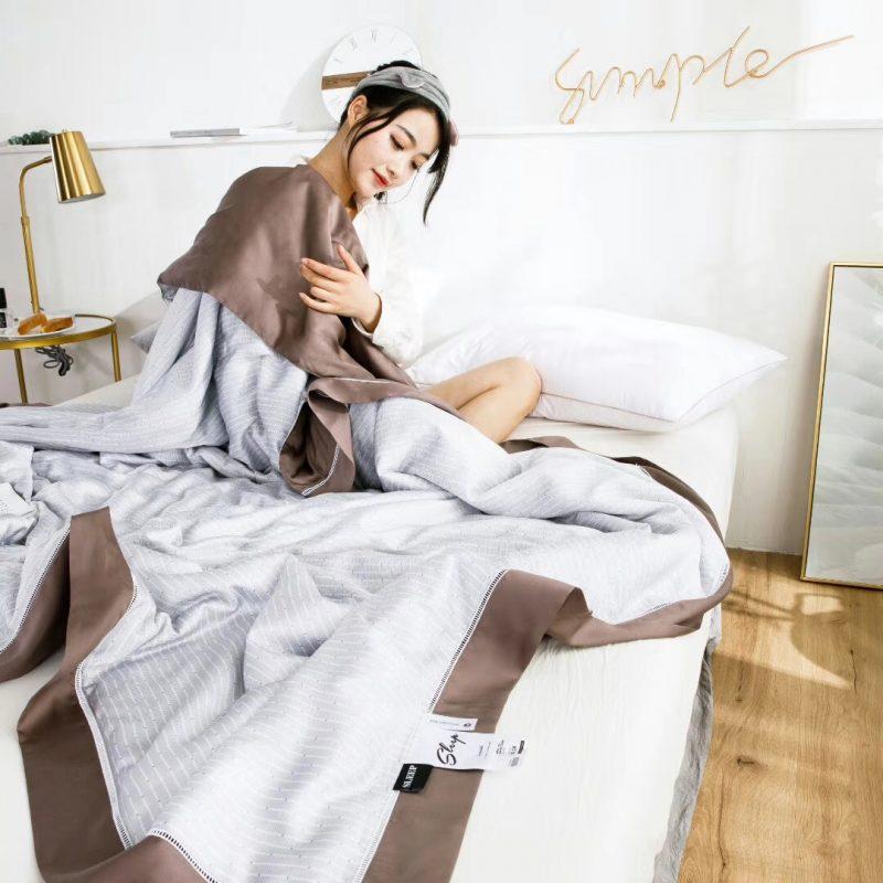 """019裸睡神器60S天丝印花款夏凉被空调被薄被达博"""""""