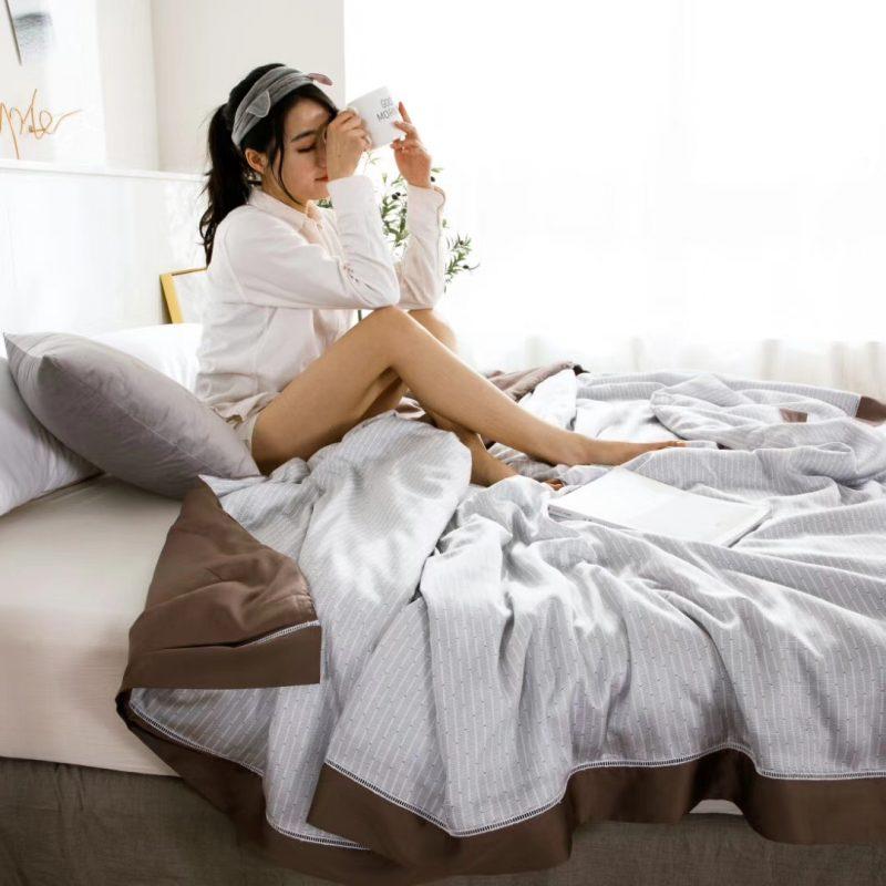 2019裸睡神器60S天丝印花款夏凉被空调被薄被达博