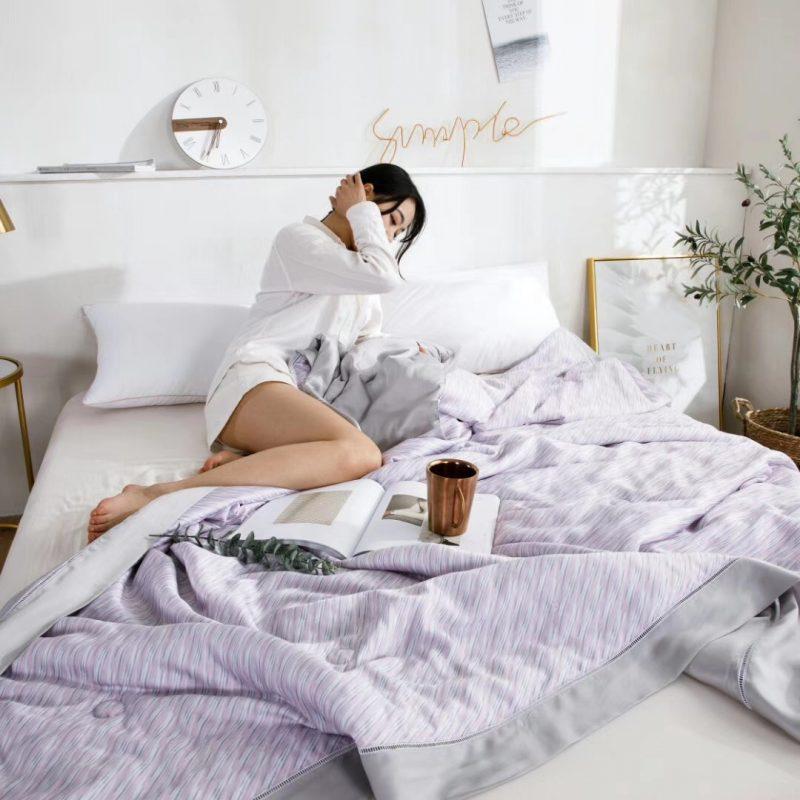 2019裸睡神器60S天丝印花款夏凉被空调被薄被斯维尔