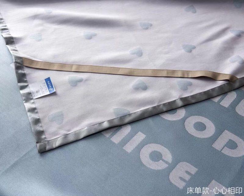 可水洗机洗养生席冰丝席空调席冰柔席三件套床单款心心相印