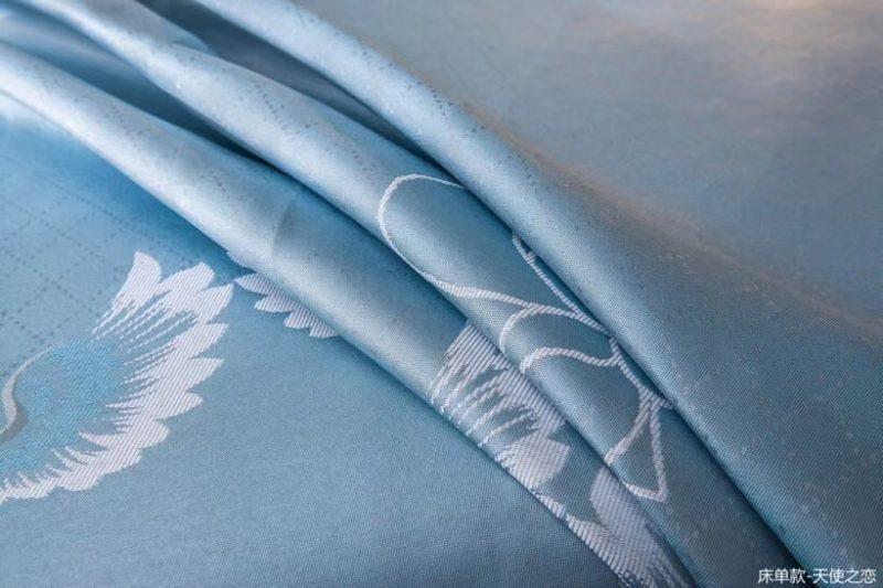 可水洗机洗养生席冰丝席空调席冰柔席三件套床单款天使之恋