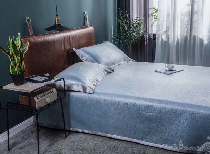 可水洗机洗养生席冰丝席空调席冰柔席三件套床单款艾丝