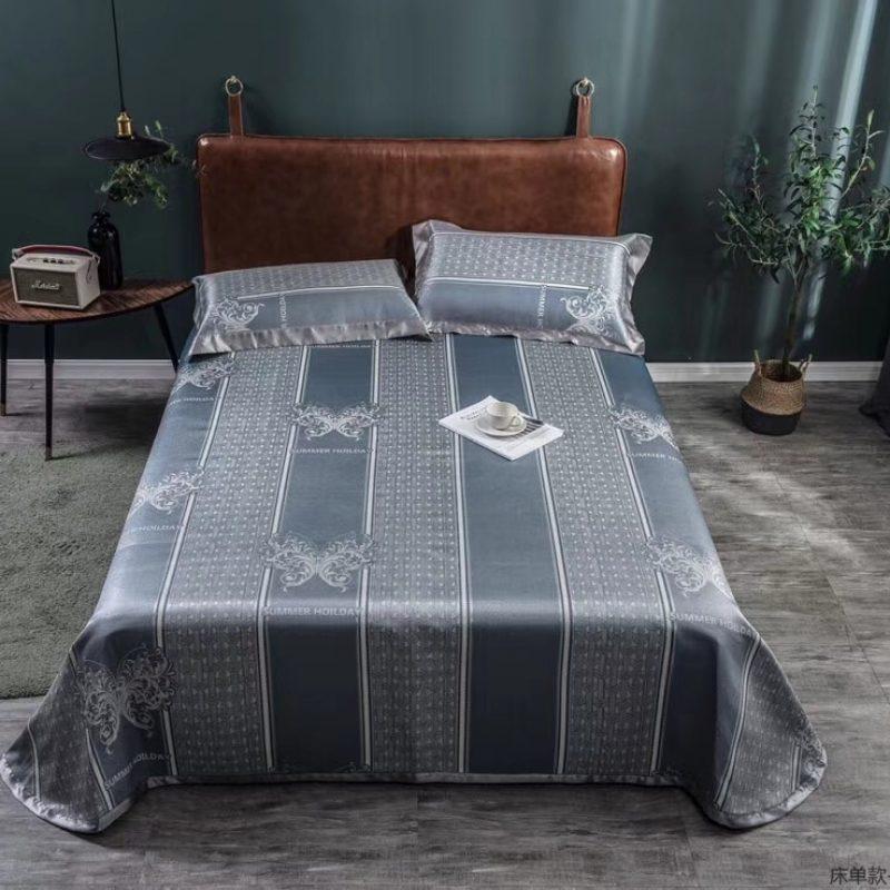 MING SU可水洗机洗养生席冰丝席空调席冰柔席三件套床单款艾维