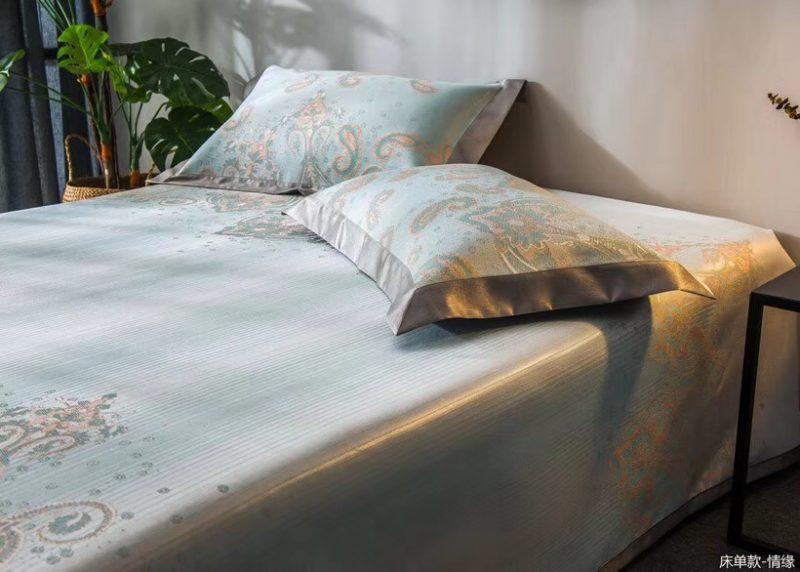 MING SU可水洗机洗养生席冰丝席空调席冰柔席三件套床单款情缘