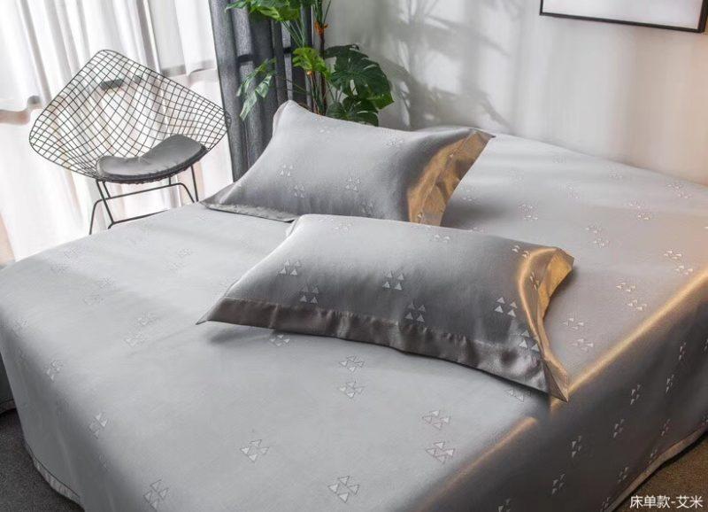 MING SU可水洗机洗养生席冰丝席空调席冰柔席三件套床单款艾米