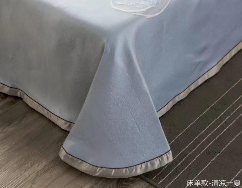 MING SU可水洗机洗养生席冰丝席空调席冰柔席三件套床单款清凉一夏