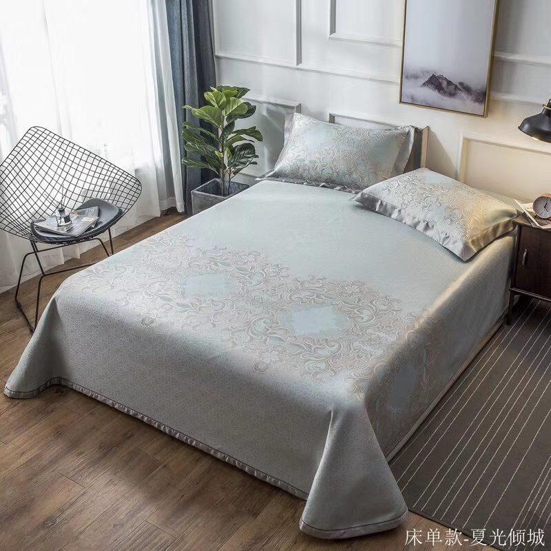 MING SU可水洗机洗养生席冰丝席空调席冰柔席三件套床单款夏光倾城