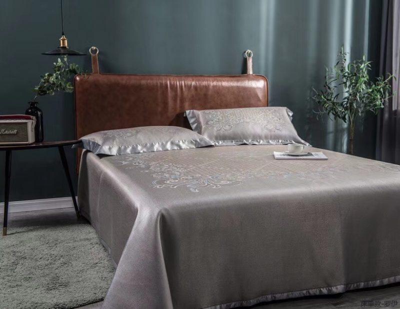 MING SU可水洗机洗养生席冰丝席空调席冰柔席三件套床单款罗伊