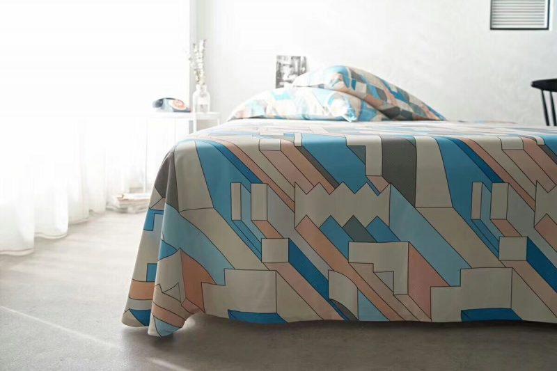 竹语天丝竹炭纤维软凉席三件套 几何图形款
