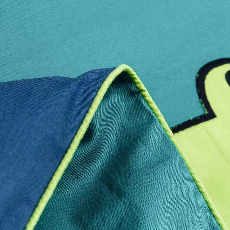 儿童款高品质纯棉面料贡缎绣花三件四件套青蛙王子