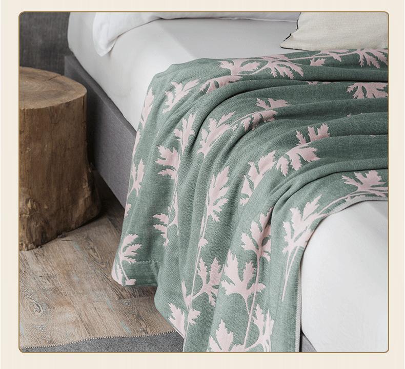 春夏新品 艾草防蚊毯 无甲醛四层纱布毛巾被 空调被 四色超值体验