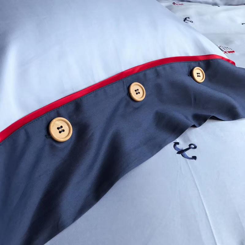 儿童床品套件 60s贡缎绣花件套 【帆船】