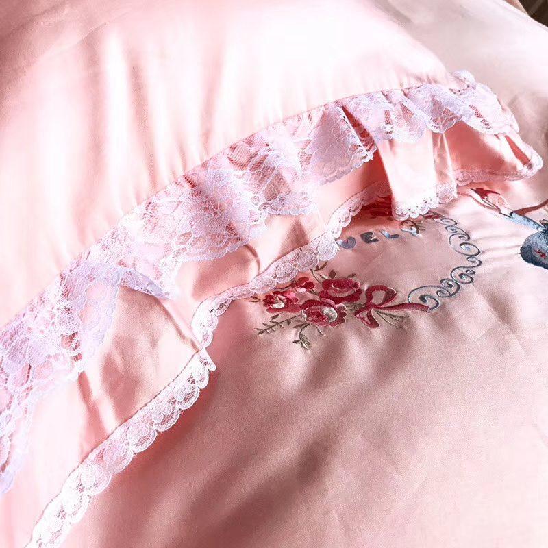 儿童床品套件 60s贡缎绣花套件【公主梦】