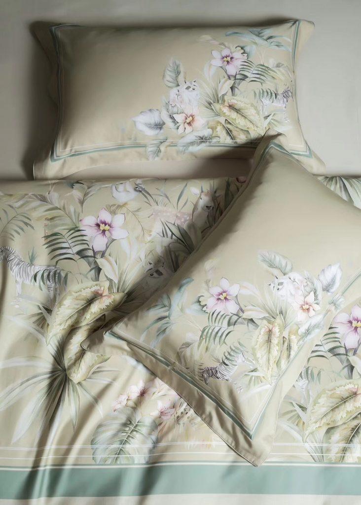 丽本2019秋冬新款  优质长绒棉数码印花四件套 【沁园】两色入
