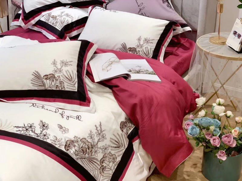 Kadoo高定系列 意大利进口60长绒棉 精致刺绣四件套